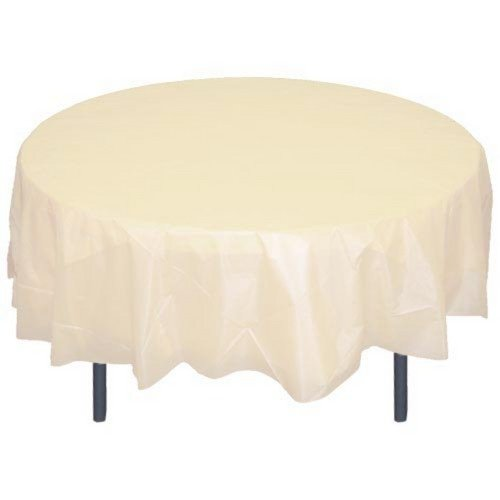Perfectmaze Set of 7 Round Plastic Table Covers 84