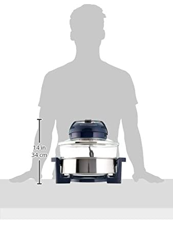 Big Boss oil-less aire freidora, acero inoxidable, azul, Large: Amazon.es: Hogar