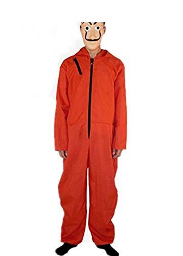 Amazon.com: Mitef Halloween Disfraz de La Casa de Papel rojo ...