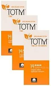 Tres paquetes de 14 tampones aplicadores de algodón orgánico ...