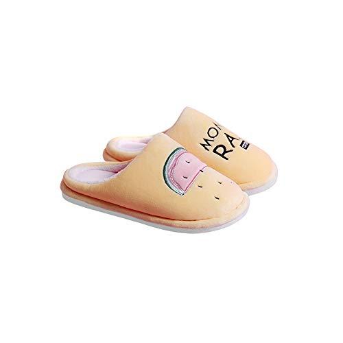 Taille Coton Intérieur Doux 37 Pink Femelle Coréenne Épais Pantoufles couleur Antidérapant Le Jaune Bas Couple Belle Maison Td Version 36 Zqwgdq