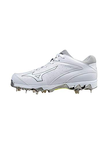 Mizuno Women's 9-Spike Swift 4 Softball Shoe, White, 11.5 B US (Metal Cleats Fastpitch)