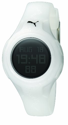 PUMA Women's PU910452003 Spin Digital Watch, White