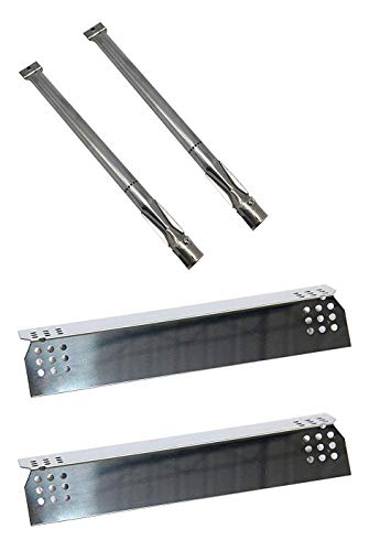 Wondjiont Stainless Steel Burners& Heat Plate, Replacement Kit for Gas Grill Model Kitchen Aid 2 Burner 720-0819