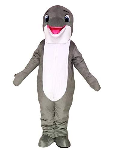 - rushopn New Lovely Grey Dolphin Mascot Costume