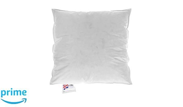 Homescapes – Relleno Cojín 45 x 45 cm Color Blanco, Cojín interior 4 unidades con relleno de Natural 100% plumas de pato, funda 100% algodón