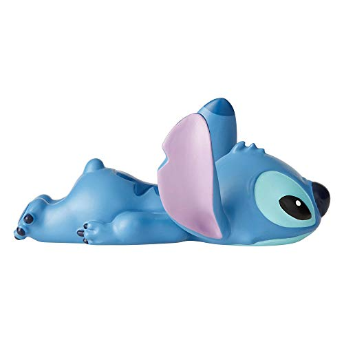 Enesco Disney Showcase Lilo and Stitch Laying Down Mini Figurine, 2.5