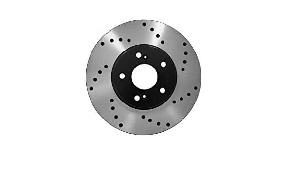 Front Rear Disc Rotors /& Ceramic Brake Pads Fits Hyundai Veloster