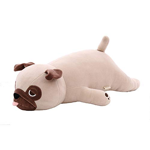 HYANF Creative Sleeping Pug Plush Toy Pillow, Super Soft Stuffed Animal Doll Cushion, Child Adult Birthday and Room Decor