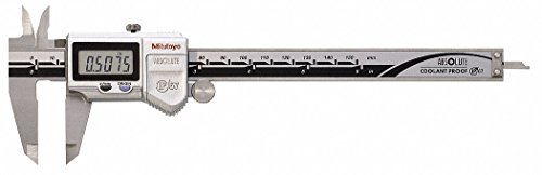 (Mitutoyo 500-762-10CAL Absolute Digital Calipers with Calibration, Stainless Steel Jaws, Inch/Metric, 0-6