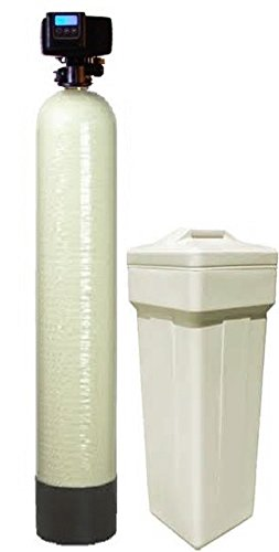 Fleck 5600 SXT Water Softener Ships Loaded With Resin In Tank For Easy Installation (64,000 Grains, Almond)