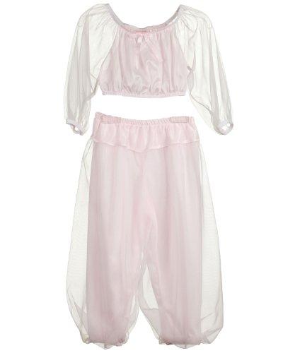 Laura Dare Little Girls Pink Jeannie Genie Costume PJ Set, 2T (Pink Genie Costume)