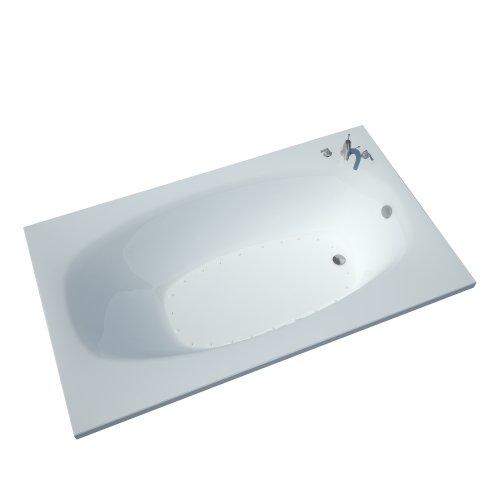 (Atlantis Whirlpools 4266pal Polaris Rectangular Air Jetted Bathtub, 42 X 66, Left Drain, White)