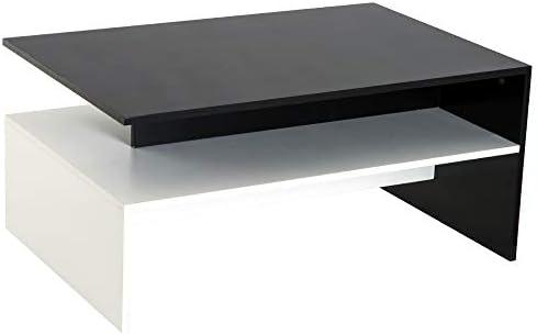 HOMCOM 2 Tier Modern Rectangular Living Room Coffee Table