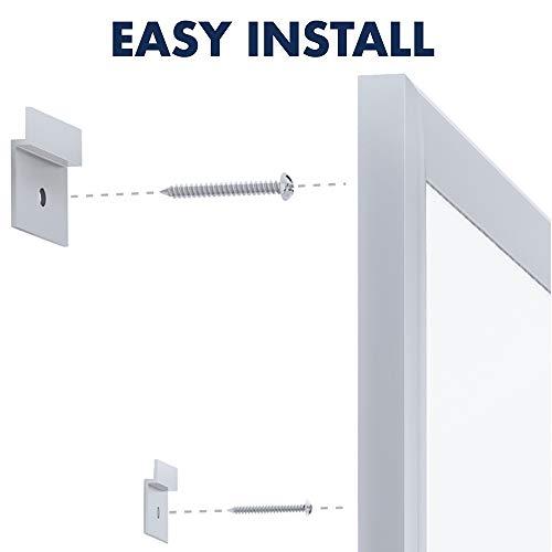 Quartet Whiteboard, Non-Magnetic Dry Erase White Board, 5' x 3', Total Erase, Silver Aluminum Frame (S535)