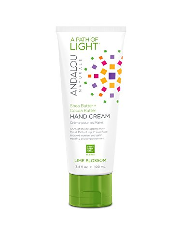 Andalou Naturals Lime Blossom Hand Cream, 3.4 Ounce