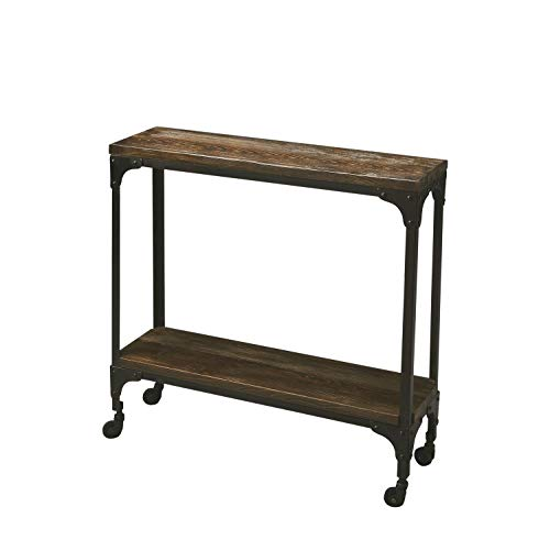 Butler Mountain Lodge Multi-Color Rectangular Iron, Mango Wood Solids GANDOLPH Industrial Chic Console Table
