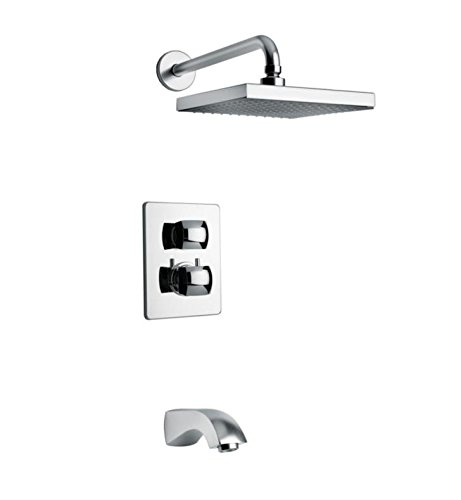 Lady Volume Thermostatic Shower System Finish: Chrome