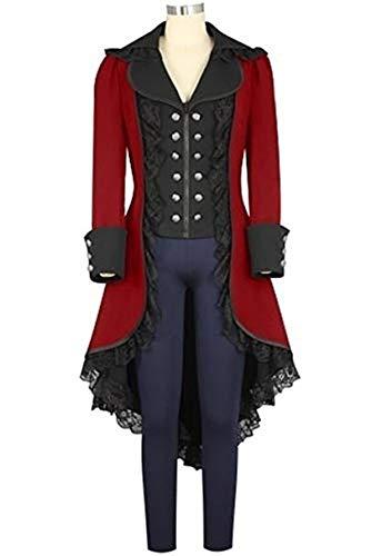 Victorian Suit - Fengstore Women's Tuxedo Gothic Tailcoat Jacket Steampunk VTG Victorian Suit Coat Halloween Christmas Wedding Cosplay Uniform