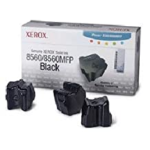 XEROX SOLID INK BLACK PHASER 8560/8560MFP 3 STICKS Output Color Black