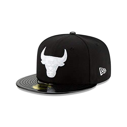 New Era Chicago Bulls Retro Hook 59Fifty Fitted Cap Hat Black 80641784 (Size 7 1/2) ()