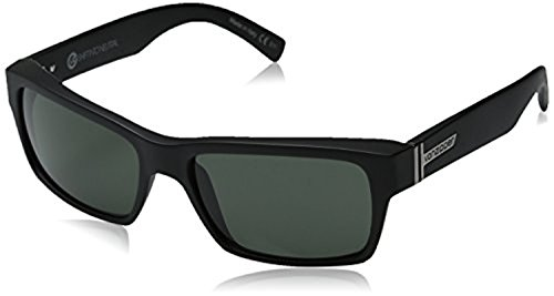 Von Zipper Fulton Sin Sunglasses Black Satin/Grey & Carekit Bundle