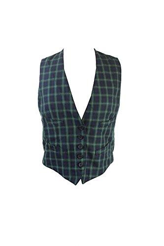 Ralph Lauren Plaid Vest - Denim & Supply Ralph Lauren Womens Plaid Button Fron Vest Navy S