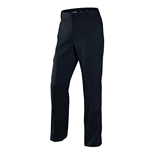 NIKE Men's Dri-Fit Flat Front Golf Pants-Black-38 X 30