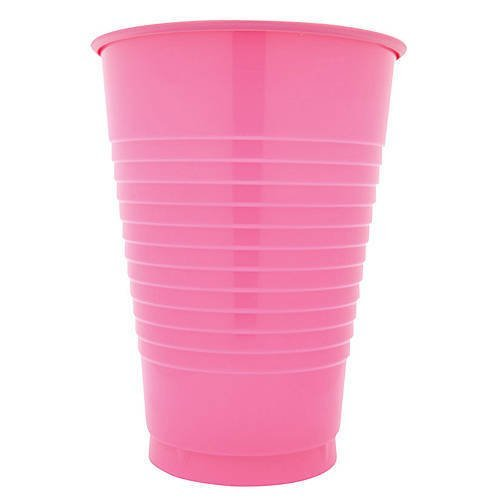 16 oz Pink Plastic Cups, 20 Pack