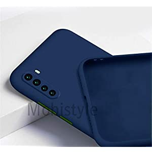 Mobistyle Soft Matte Silicone Camera Protection TPU Shockproof Back Cover Case for Oneplus Nord (Blue)