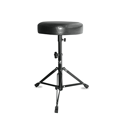 MyEasyShopping Double Braced Folding Padded Drum Throne - Keyboard Bench - Guitar Stool, 1 - Double Braced Folding Padded Drum Throne - Keyboard Bench - Guitar Stool New by MyEasyShopping