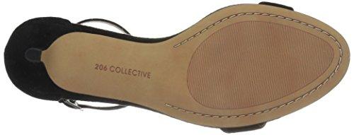 Suede Women's Black Low 206 Eve Heel Stiletto Collective Sandal Dress Heeled fqxwx6AvW5