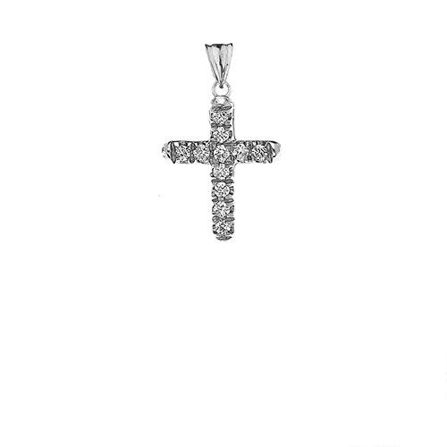 Elegant Diamond Cross Pendant - 4