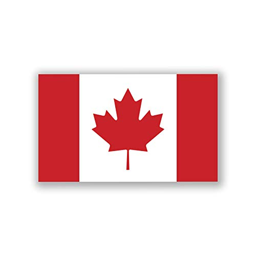 2-Pack Canada Flag Decal Stickers | Official Flag of Canada Stickers | 5-Inches by 3-Inches | Premium Quality Vinyl | PD400