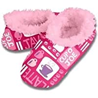 Snoozies Womens Comfy Slippers Squiggles