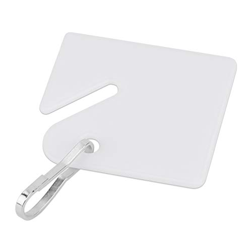 Uniclife Slotted Rack Key Tags with Snap Hook, White, Pack of 50