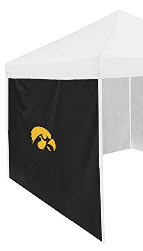 Logo Brands NCAA Iowa Hawkeyes Adult Size Tailgate Canopy 9 x 9 Side Panel Tent