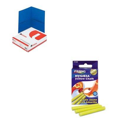 (KITDIX31344UNV56601 - Value Kit - Prang Hygieia Dustless Board Chalk (DIX31344) and Universal Two-Pocket Portfolio (UNV56601))