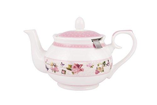 Ashdene Vintage Garden Fine Bone China Teapot with Infuser