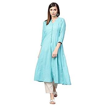 Idalia Women's Cotton Anarkali Kurta