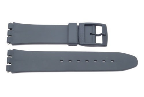 Swatch Replacement Synthetic Plastic Gray 17mm Watch Strap