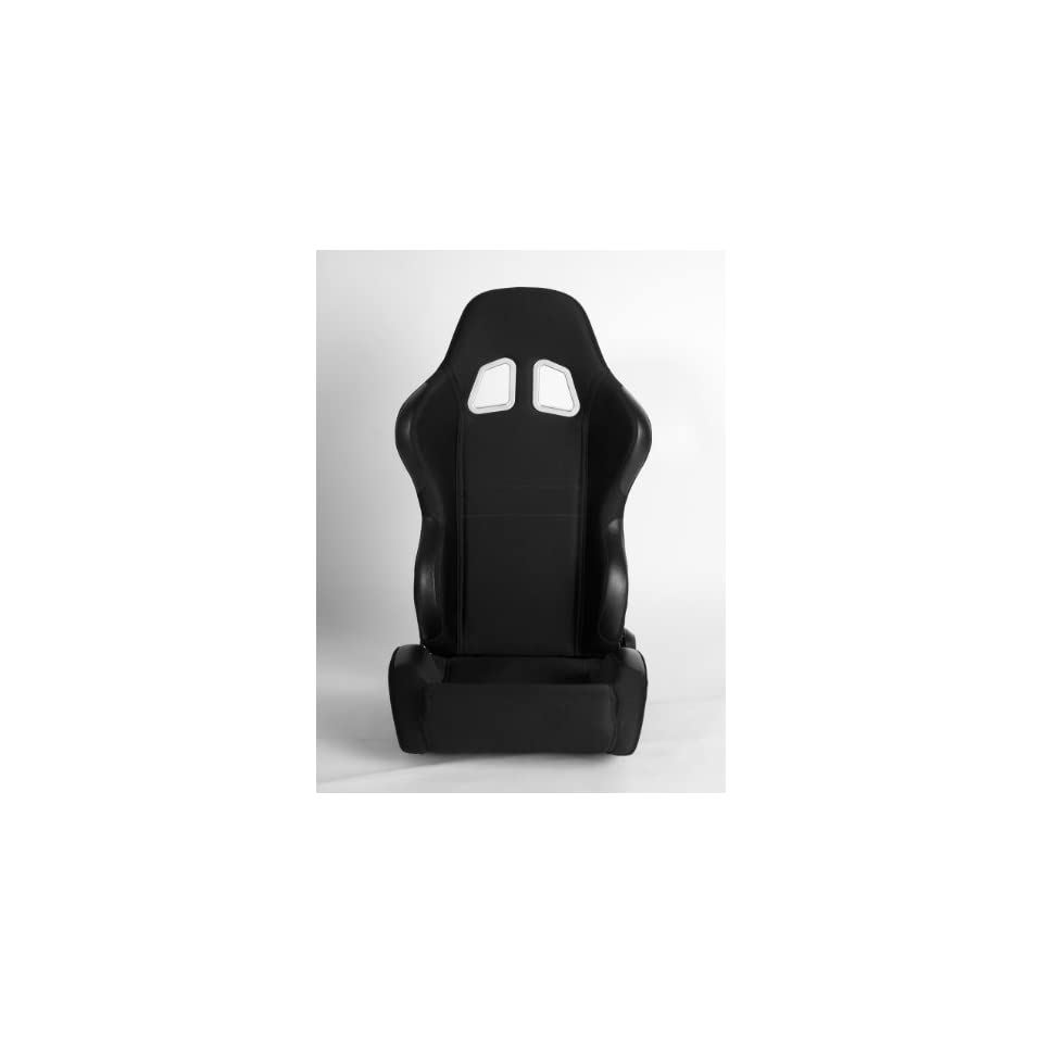 Cipher Auto Black Cloth Universal Racing Seats (Two Seats) CPA1007