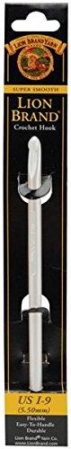 Lion Brand Yarn 400-5-9007 Crochet Hook, Size I9, 5.5mm, Silver