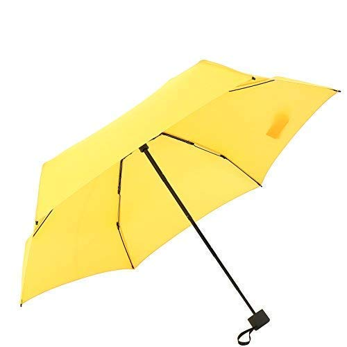 YUI Travel Mini Umbrella Sun&Rain Lightweight Totes Small and Compact Suit for Pocket Yellow by YUI Galleria (Image #4)