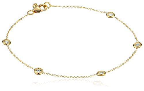 Diamond Com Yellow Gold Bracelets - 8