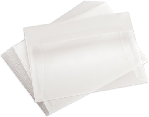Leader Paper Products A7 Vellum Approximately 5-1/4 Inch by 7-1/4 Inch Envelopes 25/Package