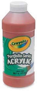 ries Acrylic Paint, 16-oz. Flip Top Plastic Bottle, Titanium White, Pint (Crayola Portfolio Series Acrylic Paint)