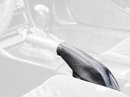 Black Alcantara-Red Thread RedlineGoods Shift Boot Compatible with Honda Accord 2008-12