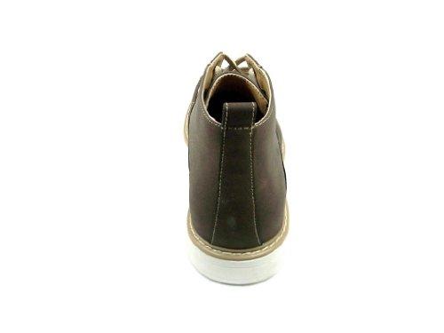 Mens 506.011 Fotled Höga Tillfälliga Snörning Boots Brown