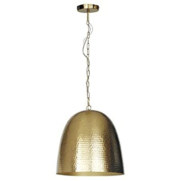 New Dome Hammered Metal Pendant Light Brass Small